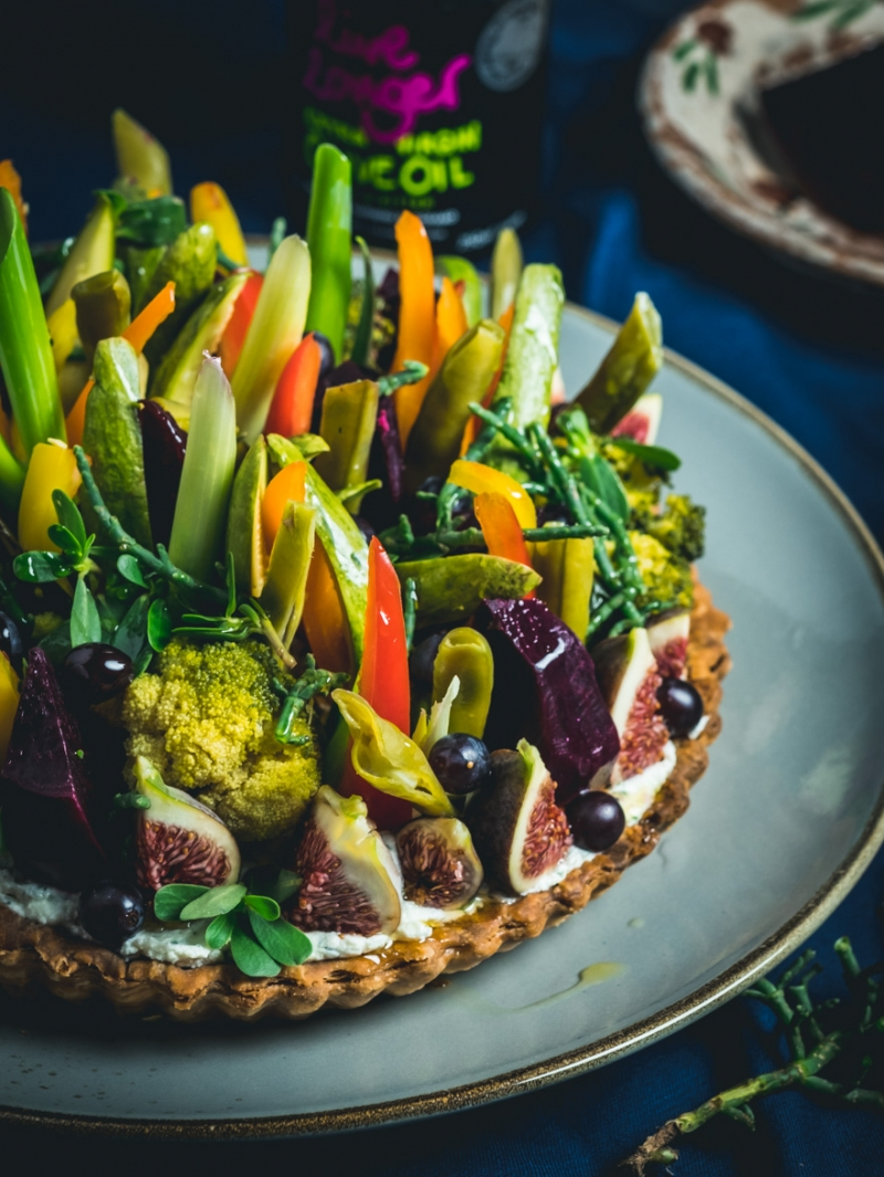 Summer Vegetable and Cheese Tart